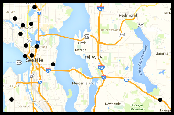Georgetown Seattle Map.Short Term Suites Locations In Seattle Washington
